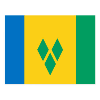 Saint Vincent and The Grenadines Flag Postcard