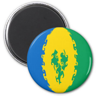 Saint Vincent and the Grenadines Gnarly Flag Refrigerator Magnets