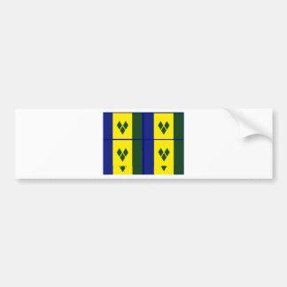 Saint vincent flag bumper stickers