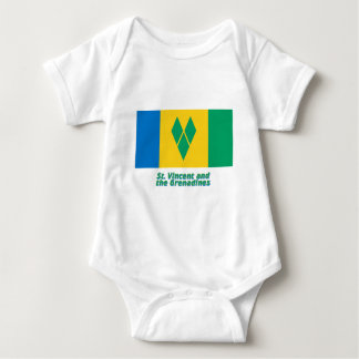 Saint Vincent Flag with Name Baby Bodysuit