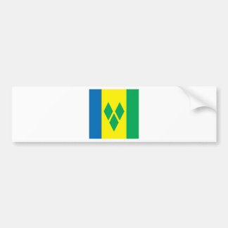 Saint Vincent High quality Flag Bumper Sticker