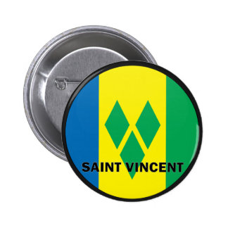 Saint Vincent Roundel quality Flag 6 Cm Round Badge