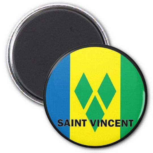 Saint Vincent Roundel quality Flag Magnet