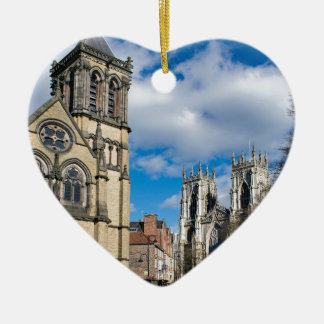 Saint Wilfrids and York Minster. Christmas Ornament