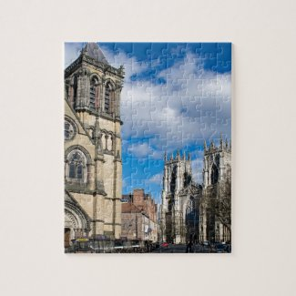 Saint Wilfrids and York Minster. Jigsaw Puzzle