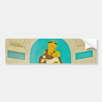 Saint with Jesus in hands Sculpture Bumper Stickers