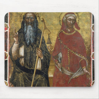 Saints Anthony Abbot and Eligius - Painted process Mouse Mat