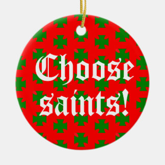 Saints_Aplenty Slogan Circ (Christmas Ed. #2) Christmas Ornament