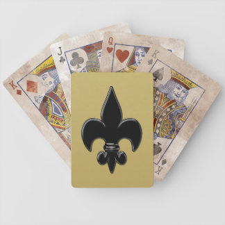 Saints Fleur de Lis Bicycle Playing Cards