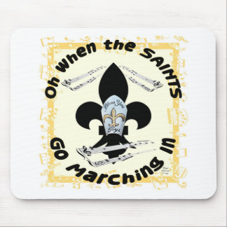 Saints Go Marching In Mouse Pad