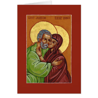 Saints Joachim & Anna Icon of Marital Love Card