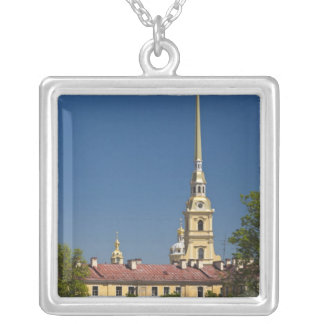 Saints Peter and Paul Cathedral Silver Plated Necklace