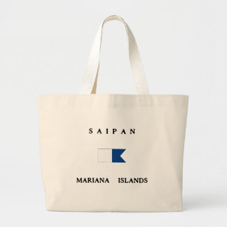 Saipan Mariana Islands Alpha Dive Flag Tote Bag