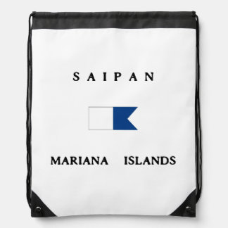Saipan Mariana Islands Alpha Dive Flag Rucksacks