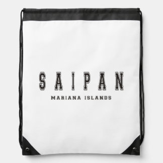 Saipan Mariana Islands Drawstring Backpacks