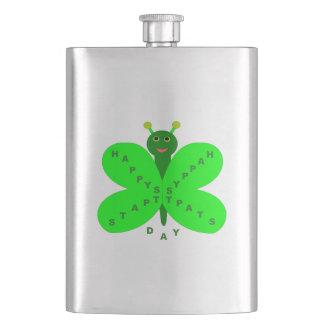 Saitn Patrick's Day Butterfly Flasks