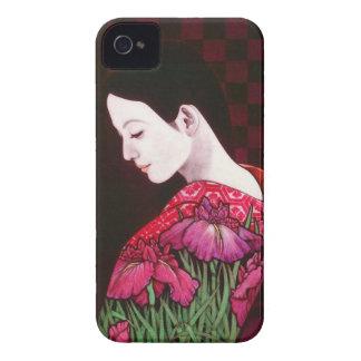 Saito Kaoru Japanese Iris japanese lady kimono art iPhone 4 Cover
