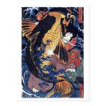 Saito Oniwakamaru, Utagawa Kuniyoshi Post Card