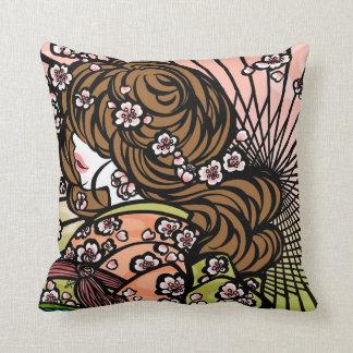 "SajuArtZen ""Bangasa and Cherry Blossoms"" Pillow"