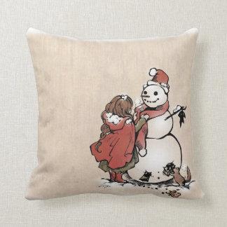 "SajuArtZen ""Winter Friends"" Pillow"