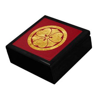 Sakai Mon Japanese samurai clan in faux gold Gift Box