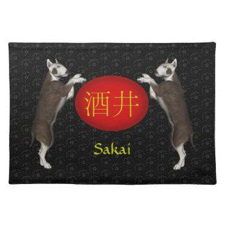 Sakai Monogram Dog Placemat