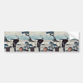 Sakanoshita  by Katsushika, Hokusai Ukiyoe Bumper Sticker
