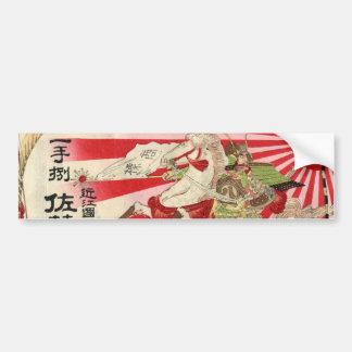 Sake for a Samurai Vintage Woodblock Print Bumper Sticker