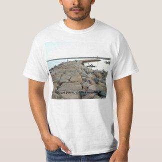 Sakonnet Point breakwater, Little Compton, RI T-Shirt