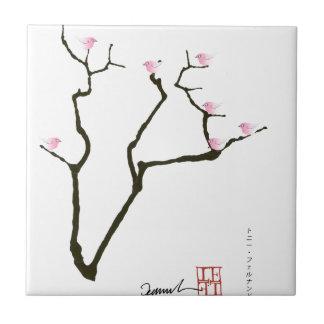 sakura and 7 pink birds 1, tony fernandes tile