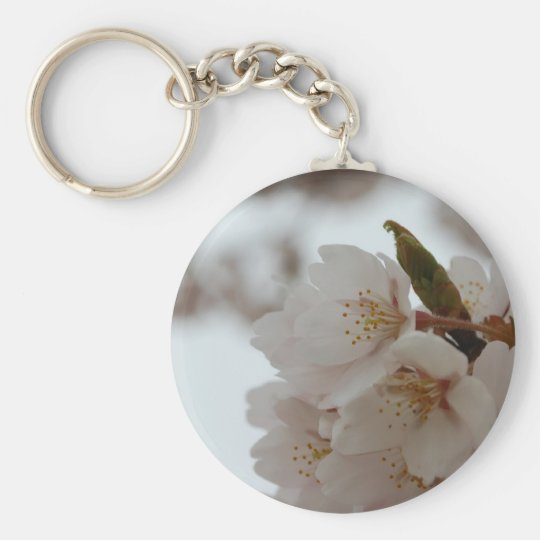 Sakura Beautiful Japanese Cherry Blossom Basic Round Button Key Ring