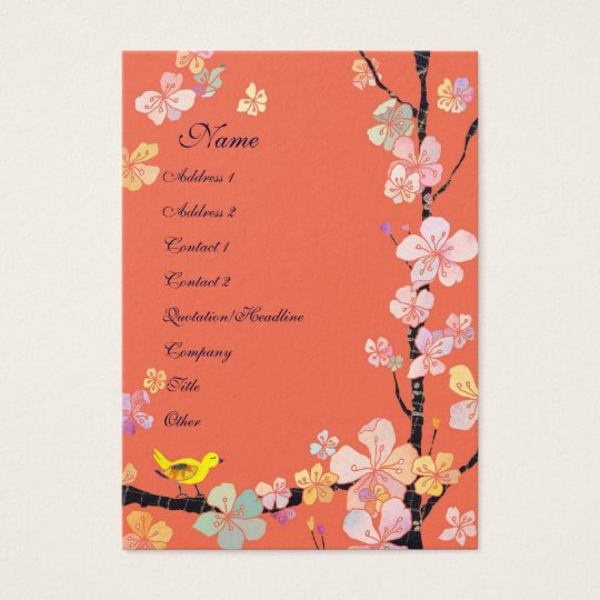 Sakura Bird Cosmetologist Business Cards