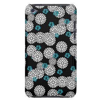 Sakura black blue flowers floral pattern Case-Mate iPod touch case