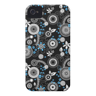 Sakura black white blue Bold case Blackberry Cases