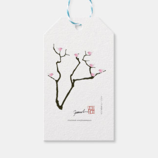 sakura blossom and pink birds, tony fernandes gift tags