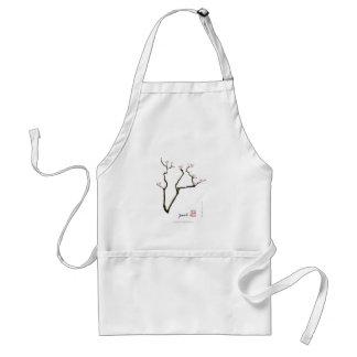 sakura blossom and pink birds, tony fernandes standard apron