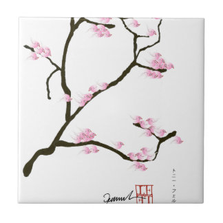 sakura blossom with pink birds, tony fernandes tile