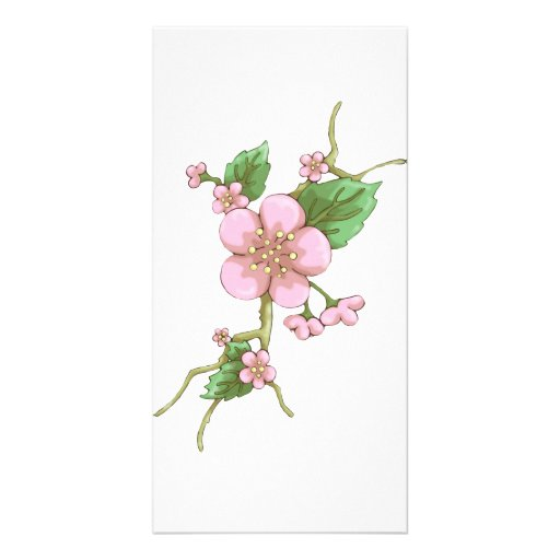 Sakura Blossoms Customized Photo Card