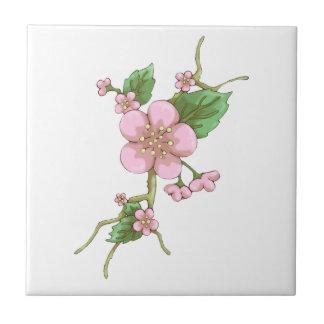 Sakura Blossoms Small Square Tile