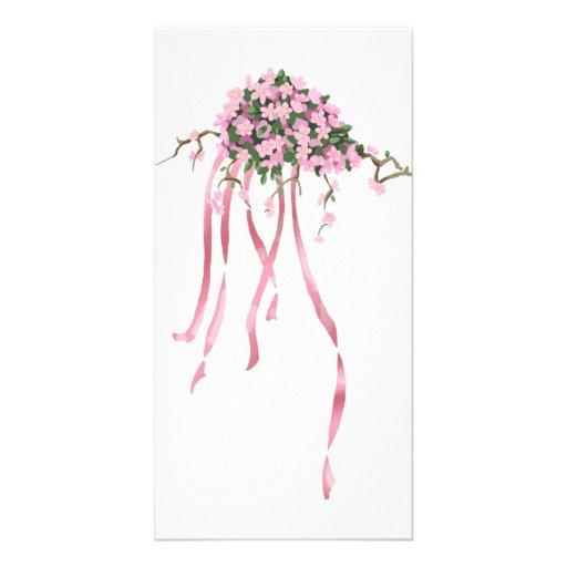 Sakura Bouquet Photo Greeting Card