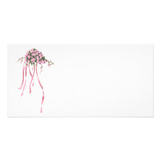 Sakura Bouquet Photo Card Template