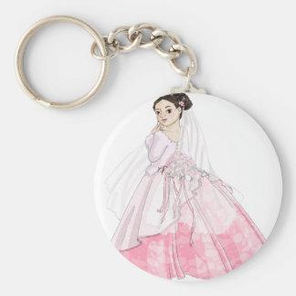 Sakura Bride Basic Round Button Key Ring
