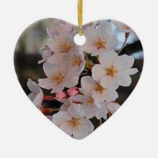 SAKURA CERAMIC HEART DECORATION