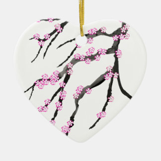 Sakura Cherry Blossom 20,Tony Fernandes Ceramic Heart Decoration