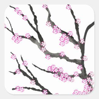 Sakura Cherry Blossom 21,Tony Fernandes Square Sticker