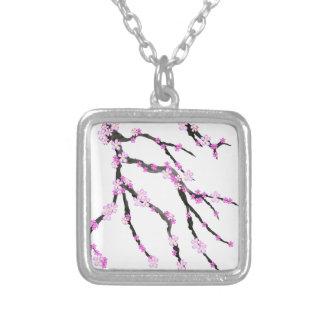 Sakura Cherry Blossom 22,Tony Fernandes Silver Plated Necklace