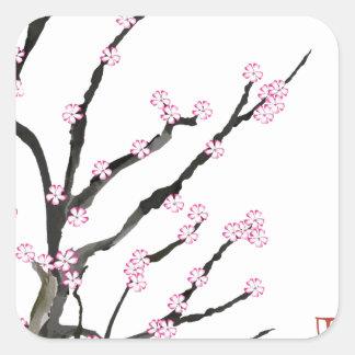 Sakura Cherry Blossom 23, Tony Fernandes Square Sticker