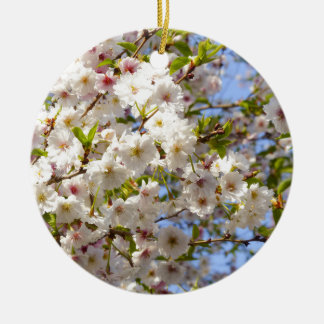 Sakura Cherry Blossom Japan Kyoto Round Ceramic Decoration