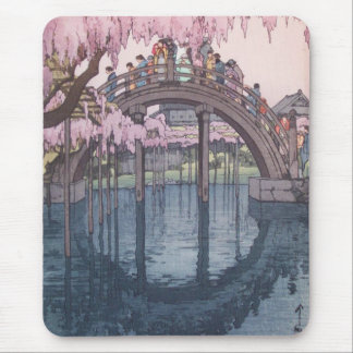 Sakura Cherry Blossom, Kameido River Bridge Japan Mouse Mat