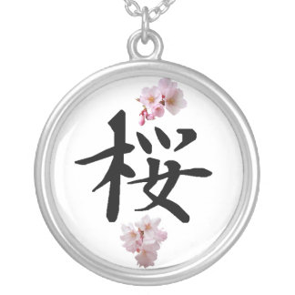 Sakura - Cherry Blossom Silver Plated Necklace